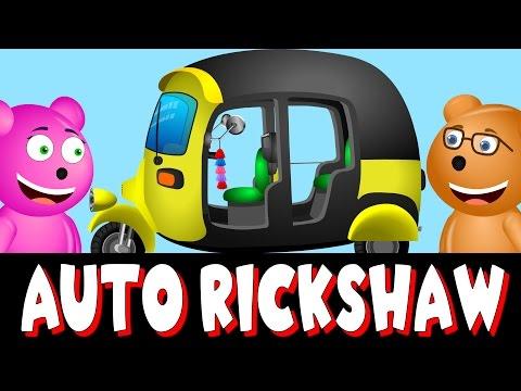 Mega Gummy Bear Builds Auto Rickshaw | Mega Gummy Bears Crushes Tuk Tuk | Construction Video