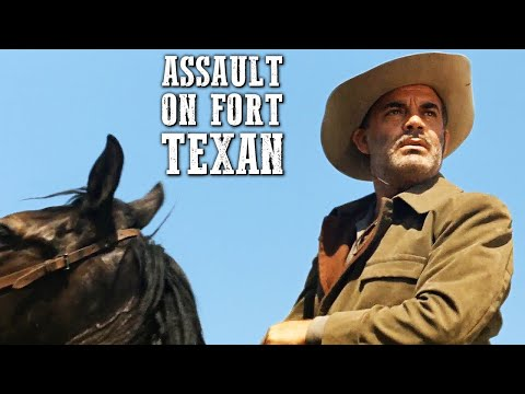 Assault on Fort Texan   Cowboy and Indian Movie   Spaghetti Western   Full Movie   Western Movies