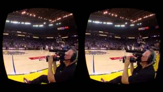 The NextVR NBA Tip Off Live Stream in the Gear VR