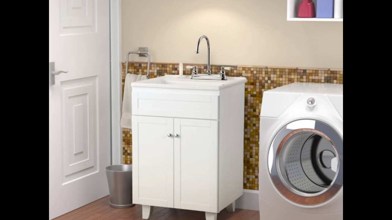 Laundry Sink Cabinet - YouTube