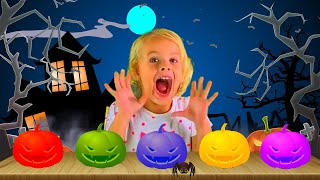 Learn colors with Pumpkins & Witches for Children - Finger Family song Nursery rhymes for kids