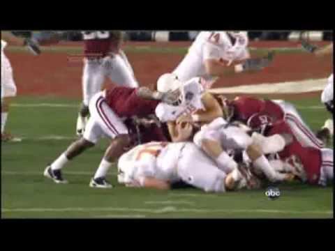 Colt McCoy hit by Marcell Dareus