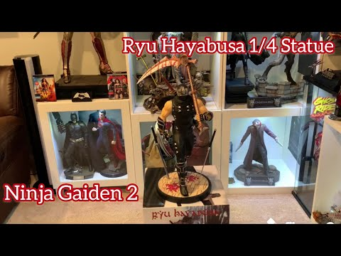 Ninja Gaiden 2 Ryu Hayabusa 1 4 Statue Unboxing And Review Youtube
