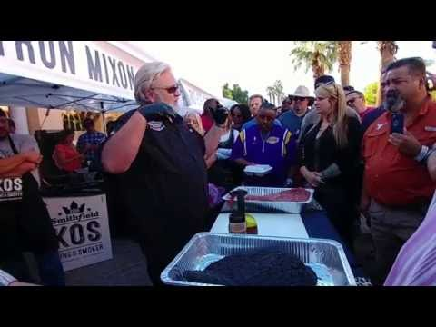 Myron Mixon BBQ Brisket Demo 2016 King of the Smokers