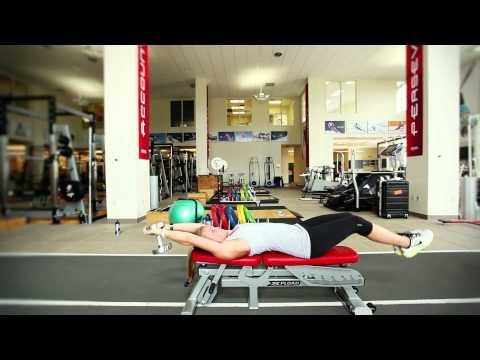Lat Pullover with Hip Flexion(Dumbbell)