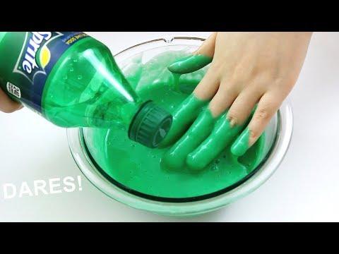 CRAZY SLIME DARES! I Left my Slime Outside for a Week!