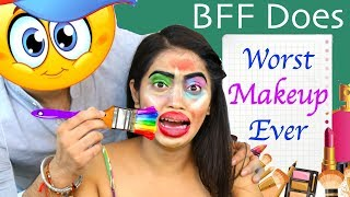 My BFF Does My MAKEUP - Worst Makeover Ever | #Fun #Challenge #Comedy #Anaysa