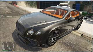 Review and add mod car Bentley Supersport 2017 gta 5
