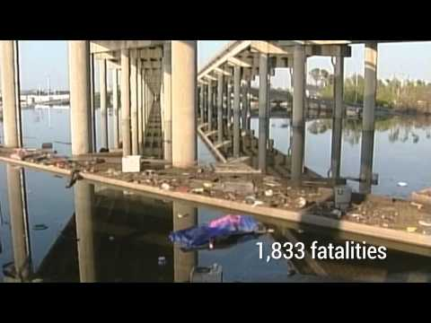 Hurricane Katrina 10th anniversary: Archive footage of the devastation to New Orleans