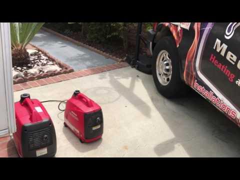 Honda eu1000i and eu2000i generator parallel operation Hyper Engineering Sure Start air conditioner