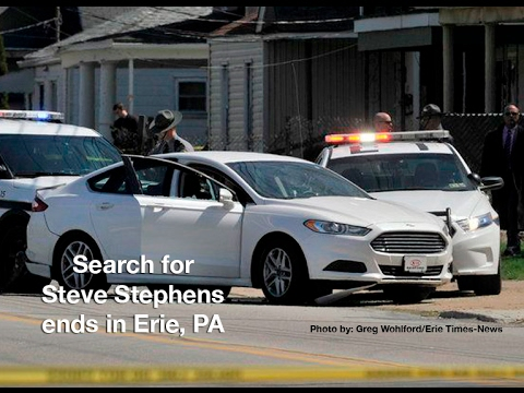 Search for Steve Stephens ends in Erie, Pennsylvania after police chase