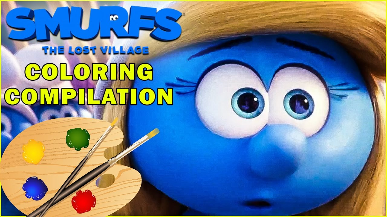 SMURFS The Lost Village Movie Coloring Pages Compilation