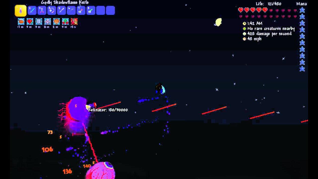 Terraria 1 3 0 7: Expert Twins kill (Melee)