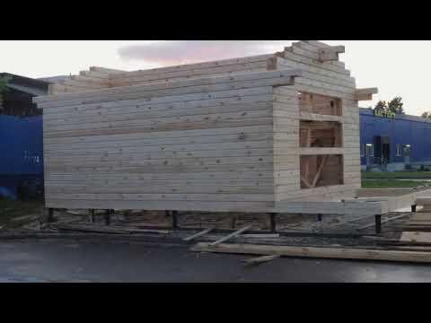 Строим дом из бруса - YouTube