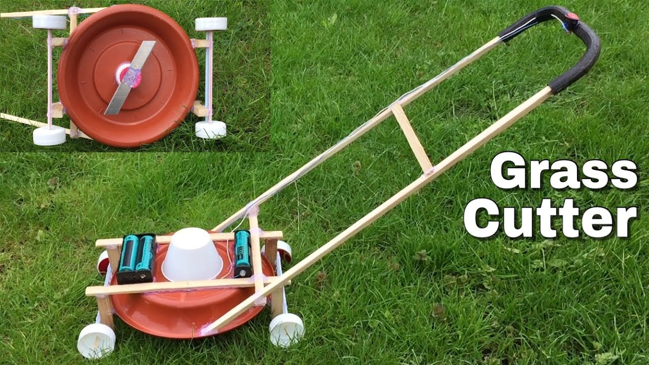 Amazing Diy Lawn Mower How To Make A Mini Grass Cutter