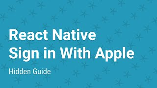 React Native - Sign-in With Apple