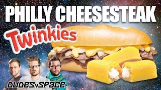 Philly Cheesesteak Twinkies - Will it Twinkie? - Dudes N Space (Warning! We broke a camera!)