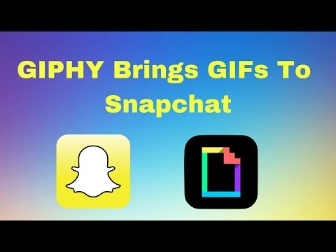 How to add gif stickers on snapchat