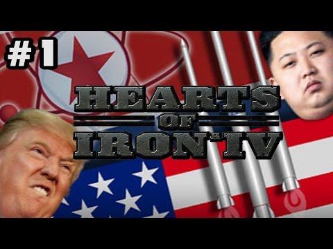 Trump vs North Korea - Hearts of Iron 4 [HOI4] - Kim Jong Un Conquest - #1