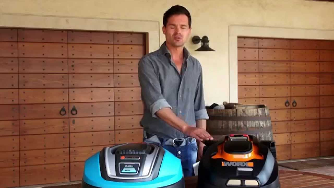 Robot Lawn Mower Test Review Gardena Vs Worx Landroid Youtube