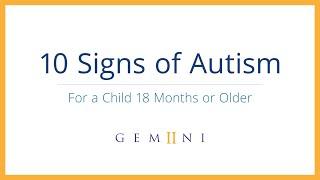 10 Signs of Autism | Gemiini - Signs of Autism in Children