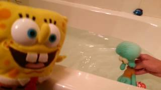 Spongebob adventures/Bathtime with Squidward