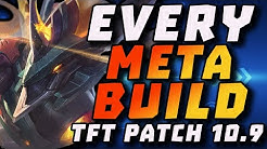 EVERY META BUILD FOR TFT PATCH 10.9 + Patch Note Rundown | TFT Update 10.9 Build Tier List