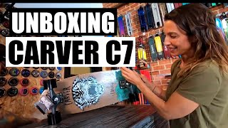 Unboxing CARVER Courtney Conlogue SEA TIGER C7 😍 Surfskate