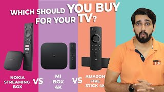 Nokia Media Streamer Vs MI Box 4K Vs Amazon Fire Stick 4K. Which is best for Your TV Smart? Hindi