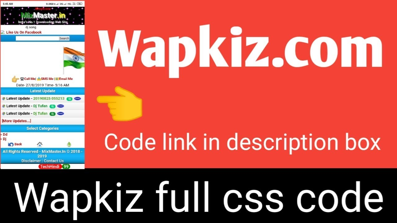 Wapkiz full css code || full website color code