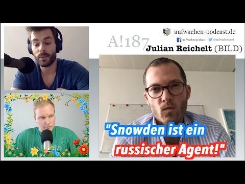 """Julian Reichelt (BILD) verspricht weiter zu behaupten: """"Snowden ist ein russischer Agent"""""""