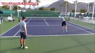 Worlds Fastest Tennis Serve Training  | Court Level View