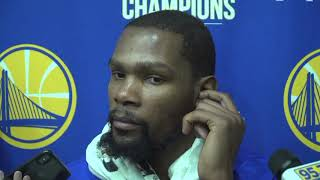 Kevin Durant on Stephen Curry: 'I don't think anything is lingering' with his injury   NBA on ESPN