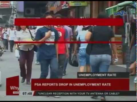 PSA reports drop in unemployment rate