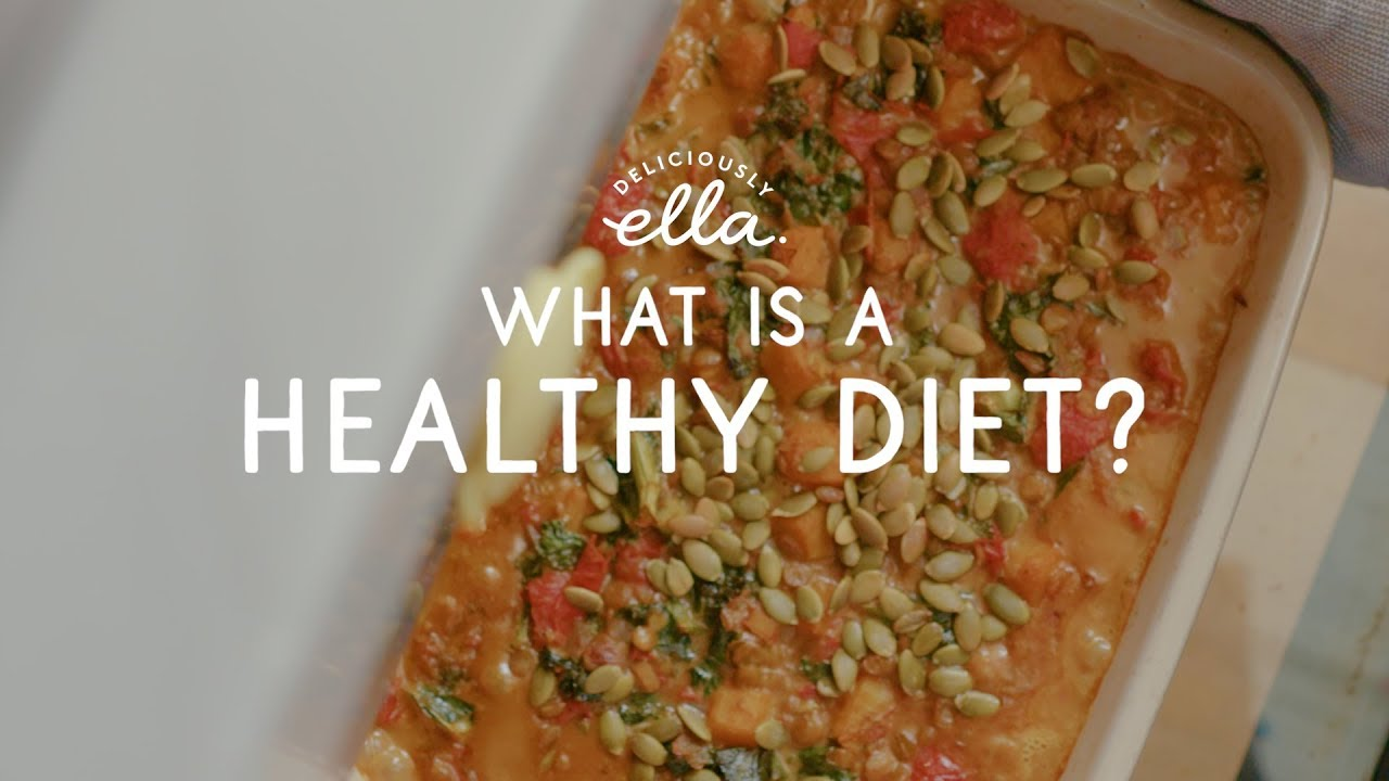 What Is a Healthy Diet & A Curried Squash & Lentil Bake | Deliciously Ella