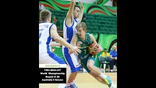 #FIBA 2014 U17 Australia V Greece - Tom Wilson 7