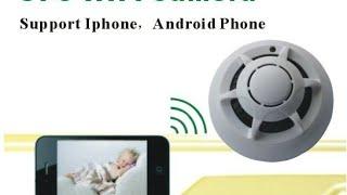 Détecteur fumée camera espion wifi test video par GLG