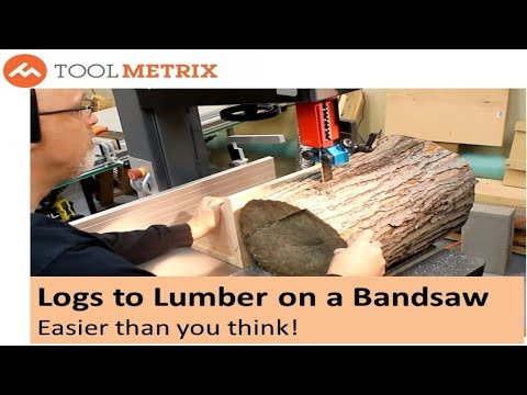 Slice Logs into Lumber on a Bandsaw with a Simple Jig