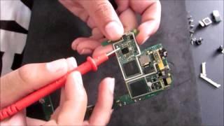 testar conector da bateria e sistema de carregamento da placa