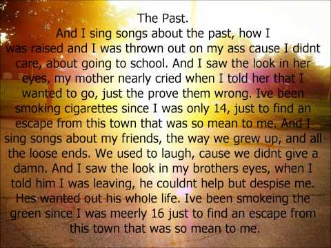 neverSHOUTnever The Past with lyrics