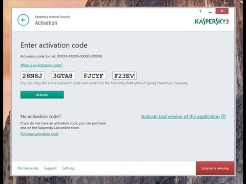 kaspersky internet security serial key 2016
