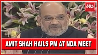 """""""PM Works For 18 Hours A Day"""" Amit Shah At NDA Meet   LIVE"""
