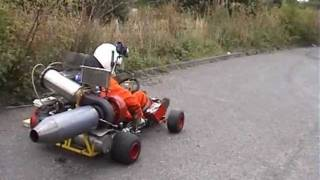 JET KART WITH AFTERBURNER ON THE ROAD