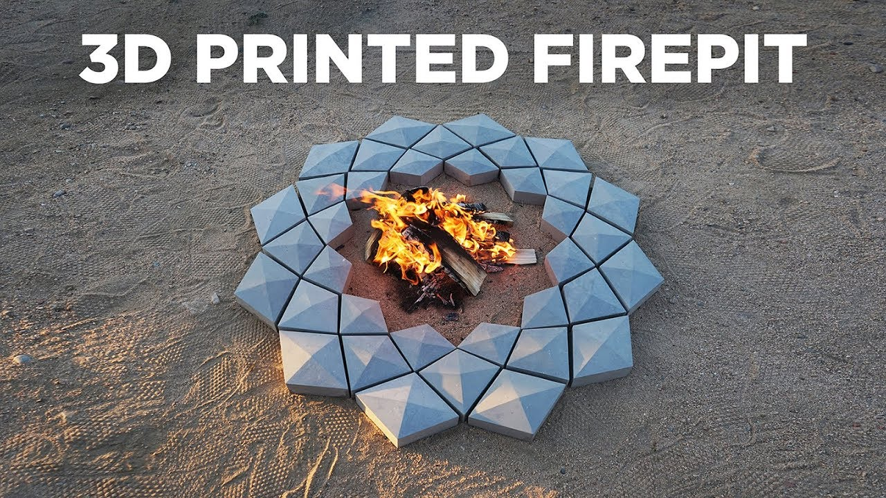 Using A 3d Printer To Make A Concrete Firepit