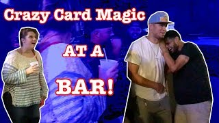 Crazy Card Magic at a Bar!   Funny Reactions!