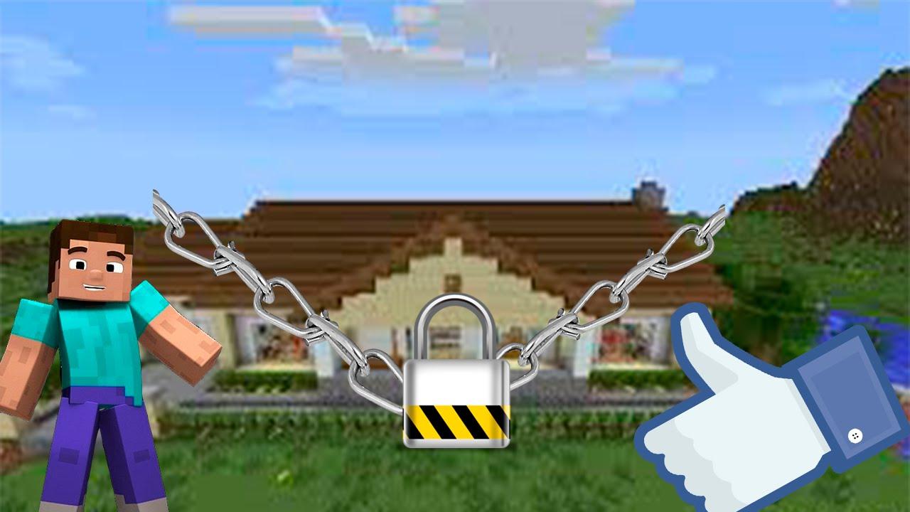 MineCraft Как защитить свой дом от других игроков?