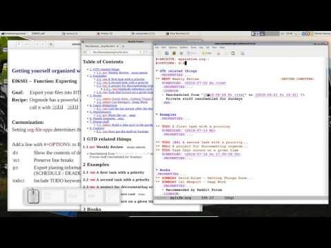 OrgMode E06S01: Exporting
