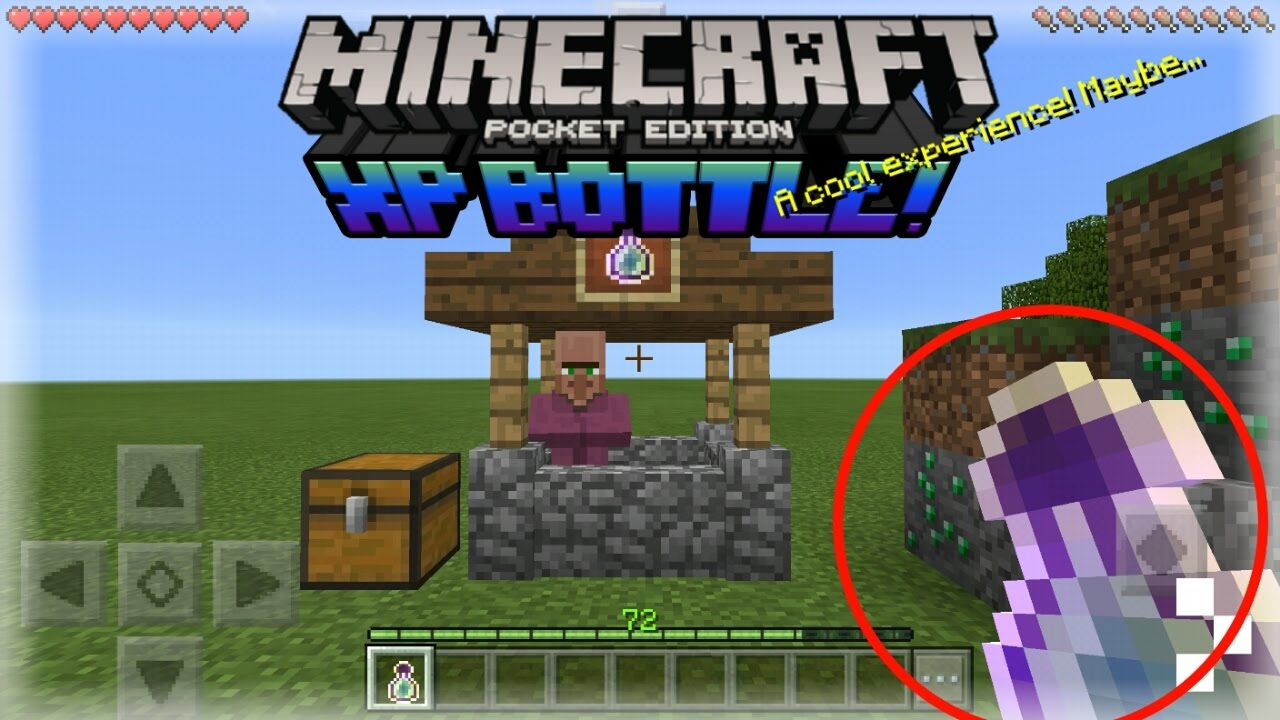How to get XP bottles in survival! - [MCPE]