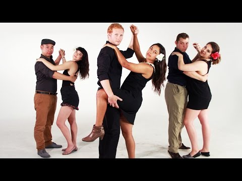 Americans Try Bachata Dancing