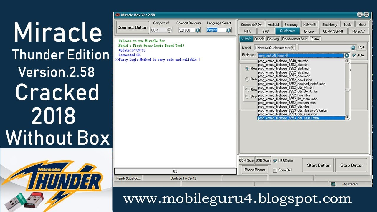 Miracle Box Thunder Edition v 2 58 Latest 2018 without box by MoBile GuRu